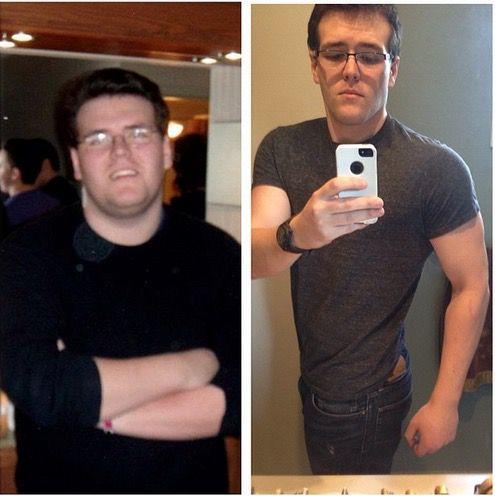 Progress Pics of 97 lbs Weight Loss 6 foot 2 Male 312 lbs to 215 lbs