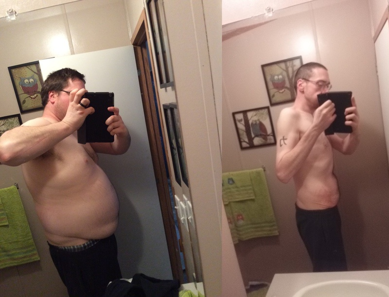 6 foot 5 Male 160 lbs Fat Loss Before and After 340 lbs to 180 lbs
