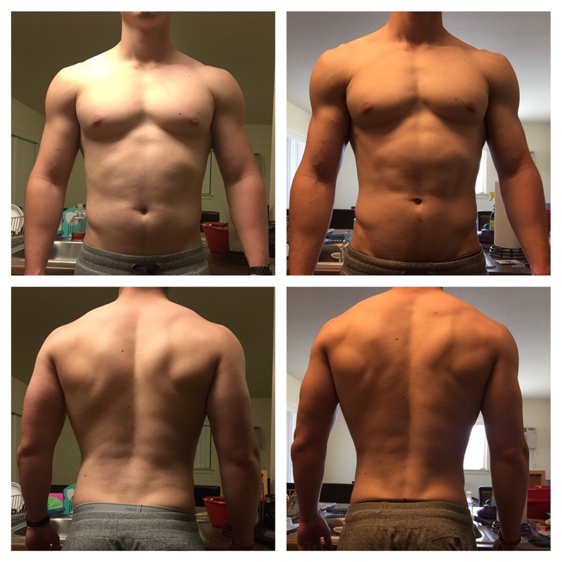 6'4 Male 24 lbs Fat Loss Before and After 234 lbs to 210 lbs