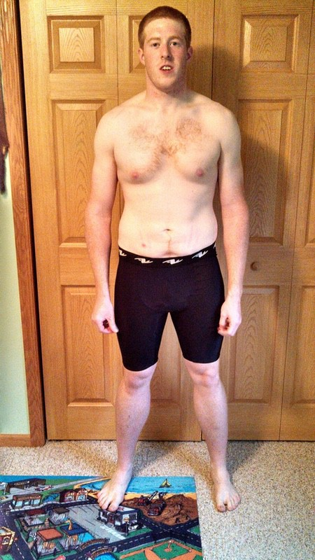 4 Photos of a 245 lbs 6'4 Male Weight Snapshot