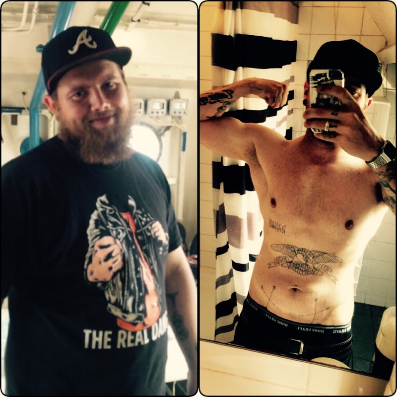 5 foot 8 Male 66 lbs Fat Loss Before and After 235 lbs to 169 lbs