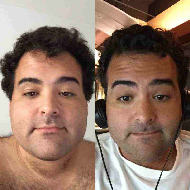 5 feet 7 Male Progress Pics of 14 lbs Weight Loss 238 lbs to 224 lbs