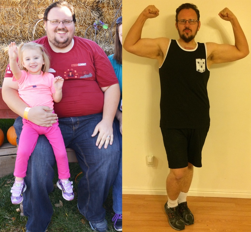220 lbs Fat Loss Before and After 6'2 Male 461 lbs to 241 lbs