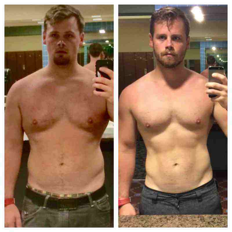 5'7 Male 40 lbs Weight Loss Before and After 205 lbs to 165 lbs
