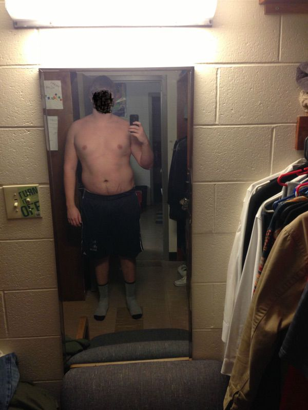 6 feet 6 Male Before and After 45 lbs Fat Loss 295 lbs to 250 lbs