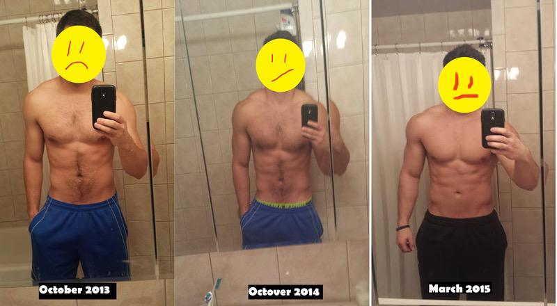25 lbs Weight Gain Before and After 6 feet 2 Male 190 lbs to 215 lbs