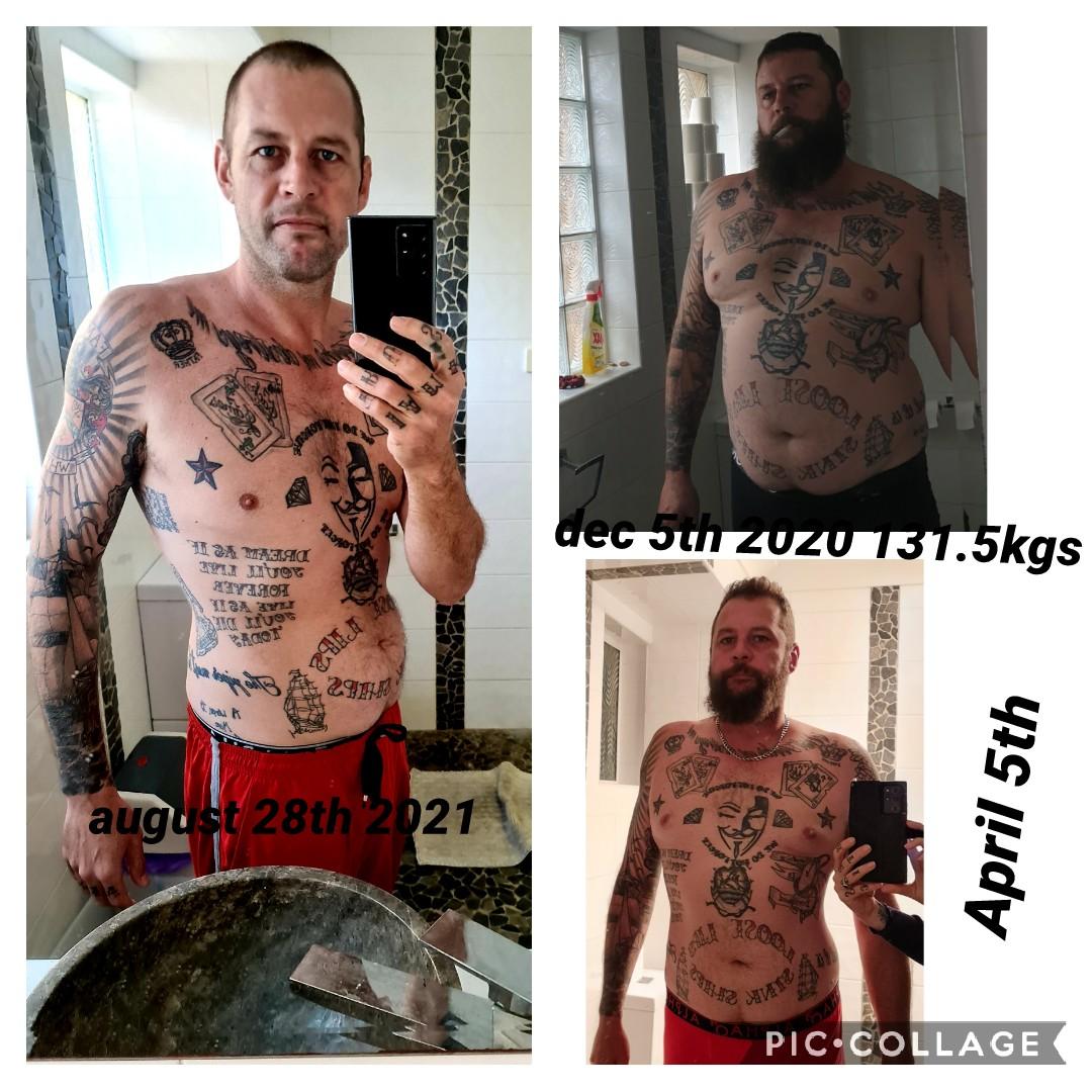 6'4 Male Progress Pics of 103 lbs Fat Loss 290 lbs to 187 lbs