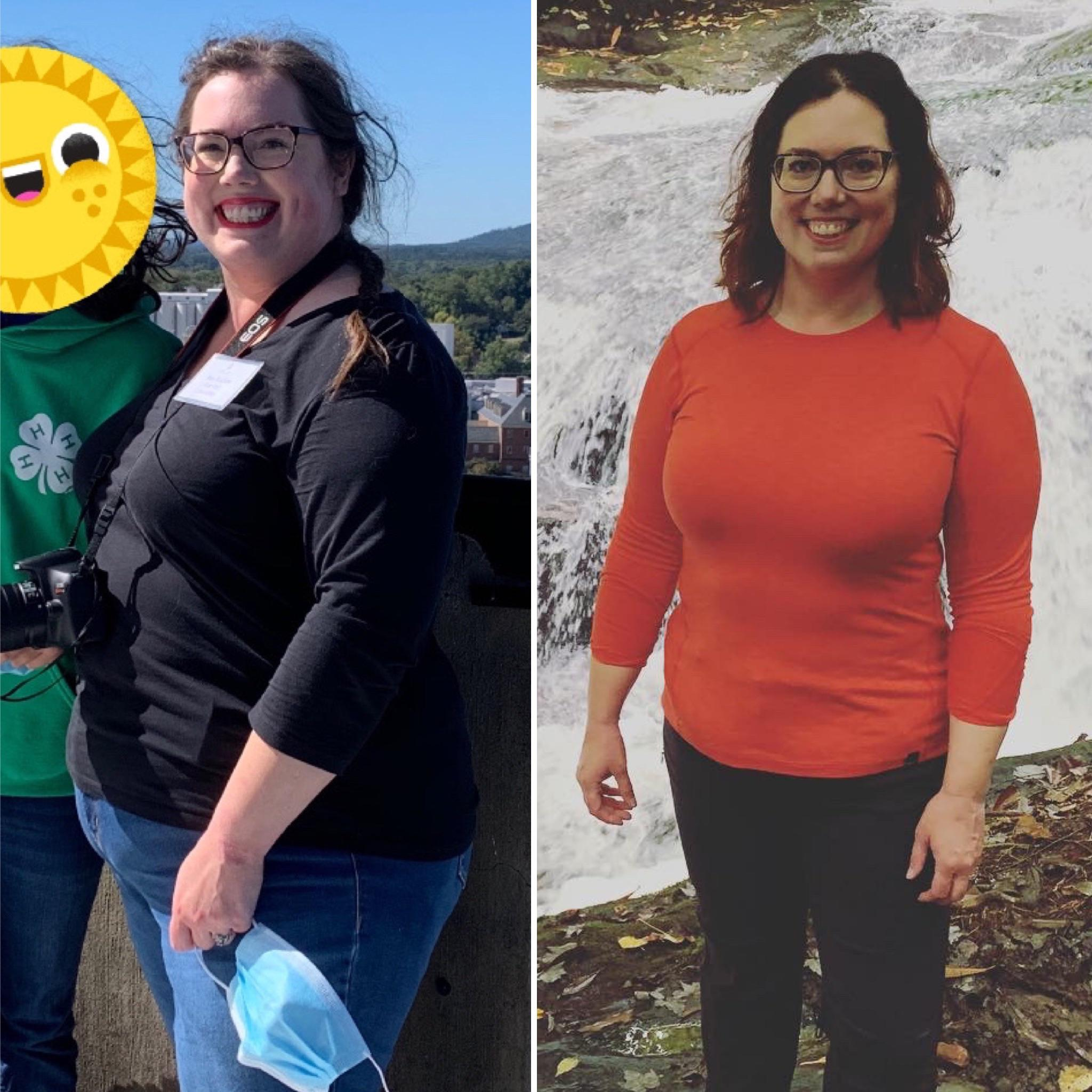 81 lbs Weight Loss Before and After 5 foot 7 Female 278 lbs to 197 lbs