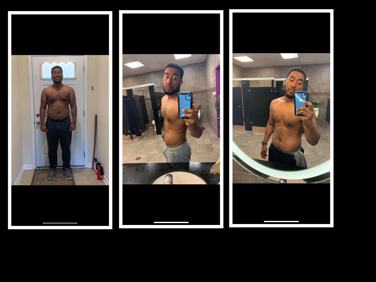 35 lbs Fat Loss 6 foot Male 240 lbs to 205 lbs