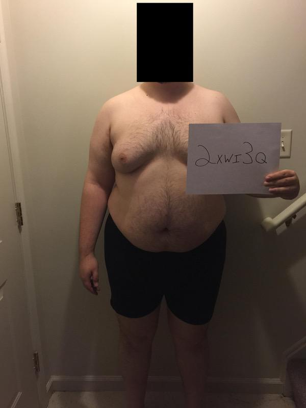 3 Photos of a 6 foot 325 lbs Male Fitness Inspo