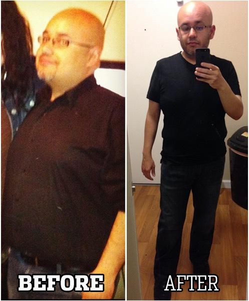 50 lbs Fat Loss 5'3 Male 215 lbs to 165 lbs