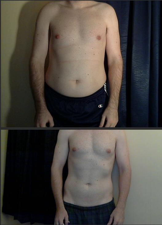 5'11 Male 40 lbs Weight Loss 220 lbs to 180 lbs