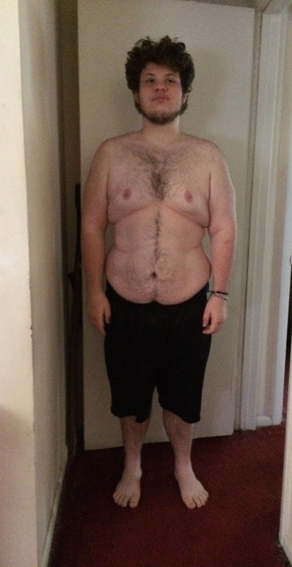5 feet 11 Male Before and After 130 lbs Fat Loss 405 lbs to 275 lbs