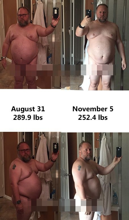 5'7 Male Progress Pics of 37 lbs Weight Loss 289 lbs to 252 lbs