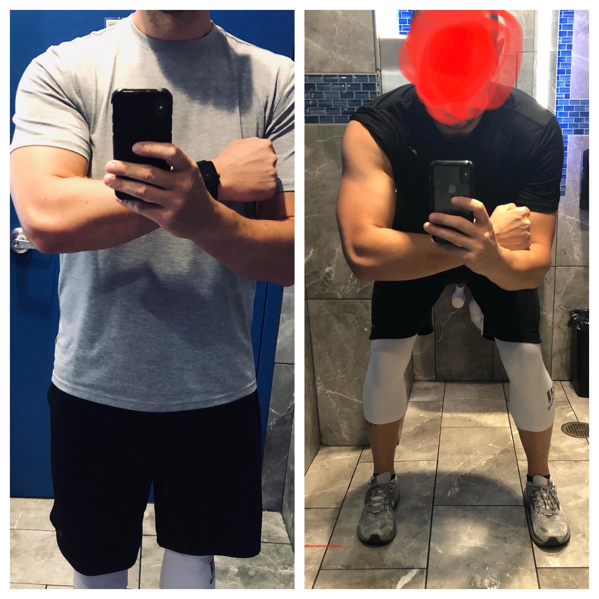 6 foot 1 Male 20 lbs Fat Loss 220 lbs to 200 lbs