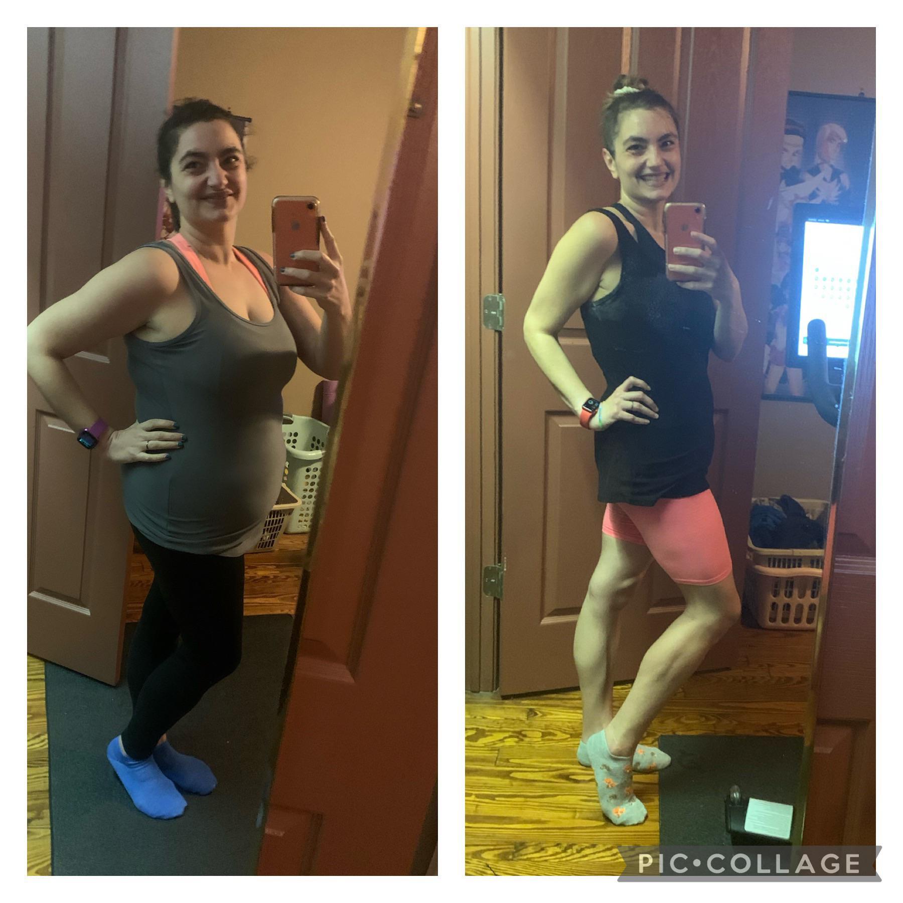 Progress Pics of 42 lbs Fat Loss 5 foot 5 Female 196 lbs to 154 lbs