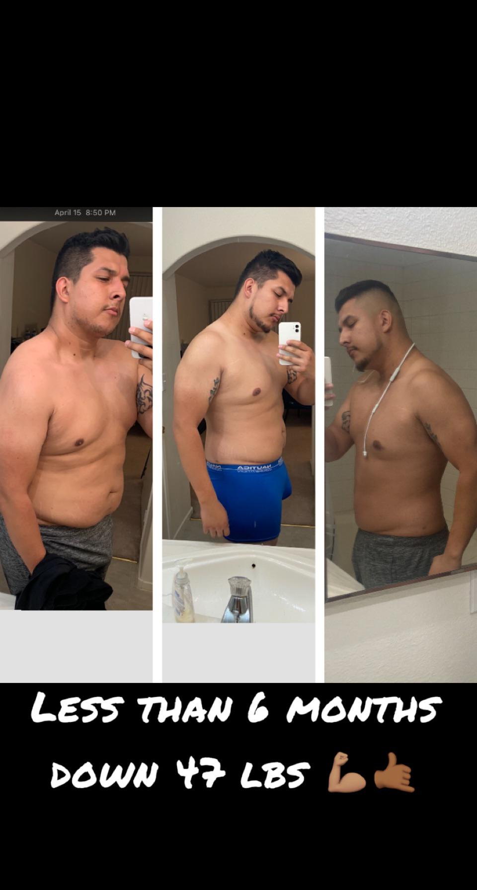 6 feet 2 Male 51 lbs Weight Loss Before and After 296 lbs to 245 lbs