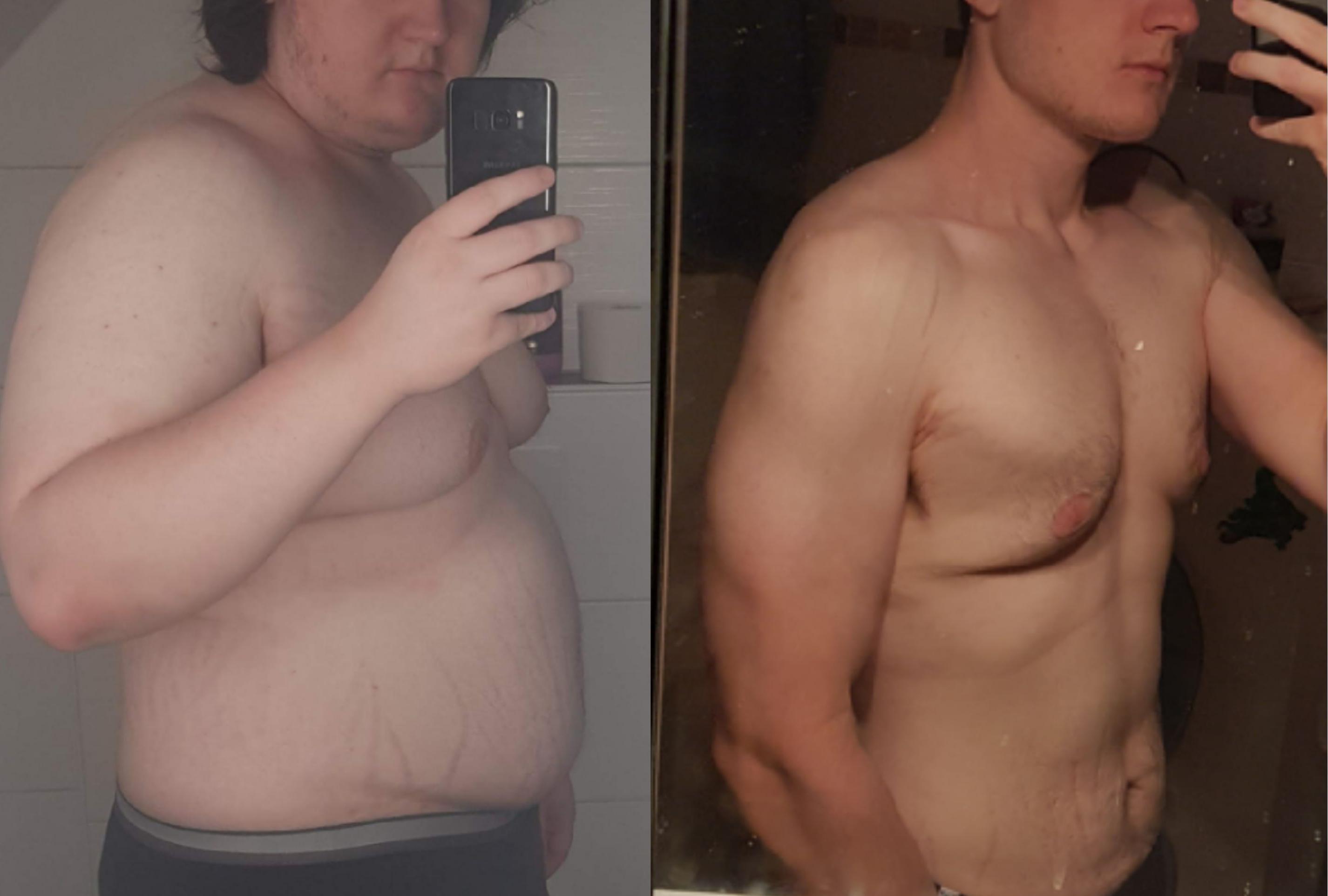 6 foot Male 150 lbs Fat Loss 333 lbs to 183 lbs