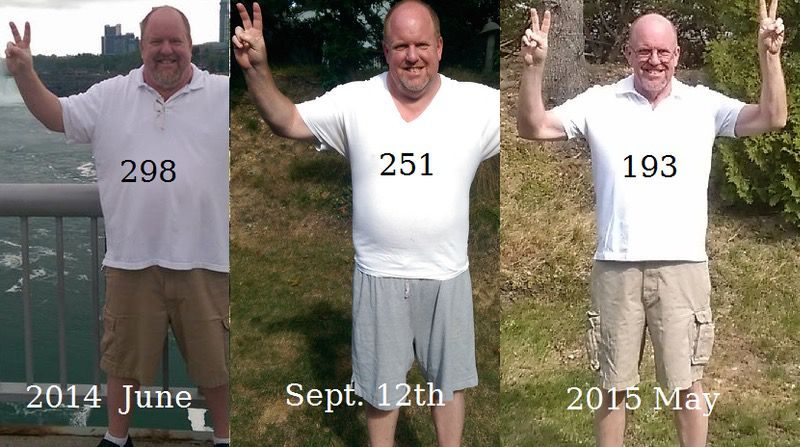 Before and After 82 lbs Weight Loss 5 feet 11 Male 298 lbs to 216 lbs