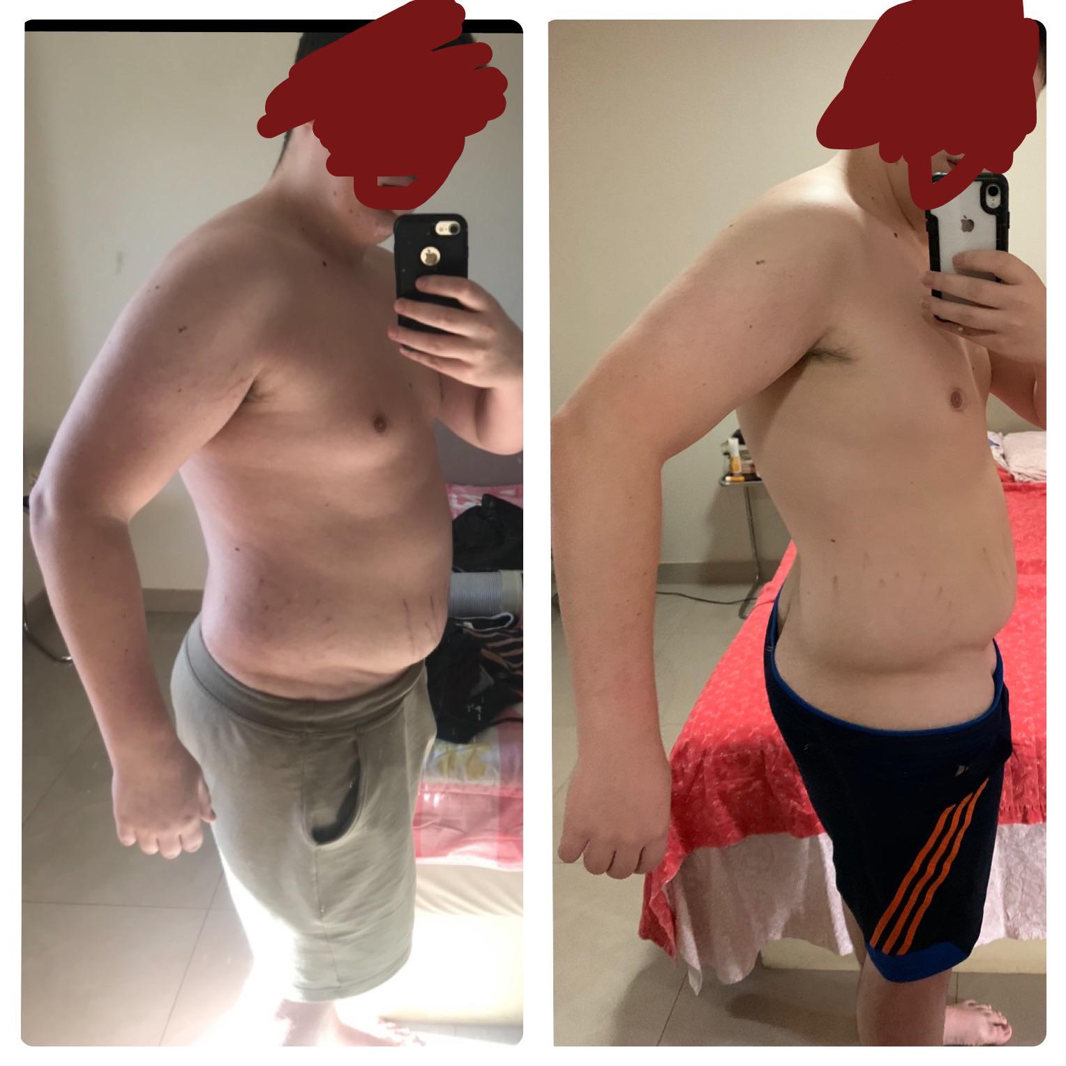 5 foot 4 Male Before and After 43 lbs Weight Loss 278 lbs to 235 lbs