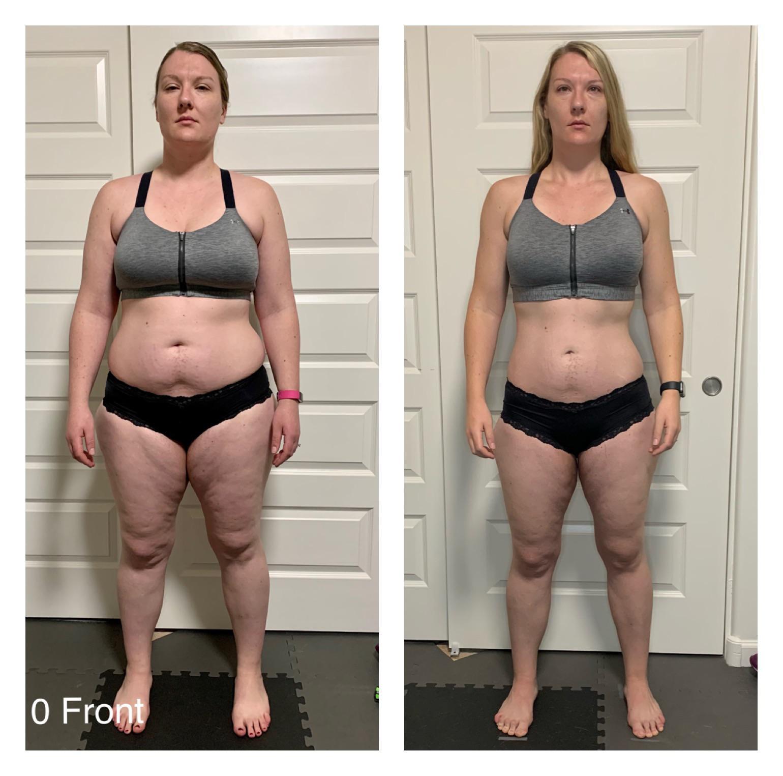 Progress Pics of 42 lbs Fat Loss 5'10 Female 241 lbs to 199 lbs