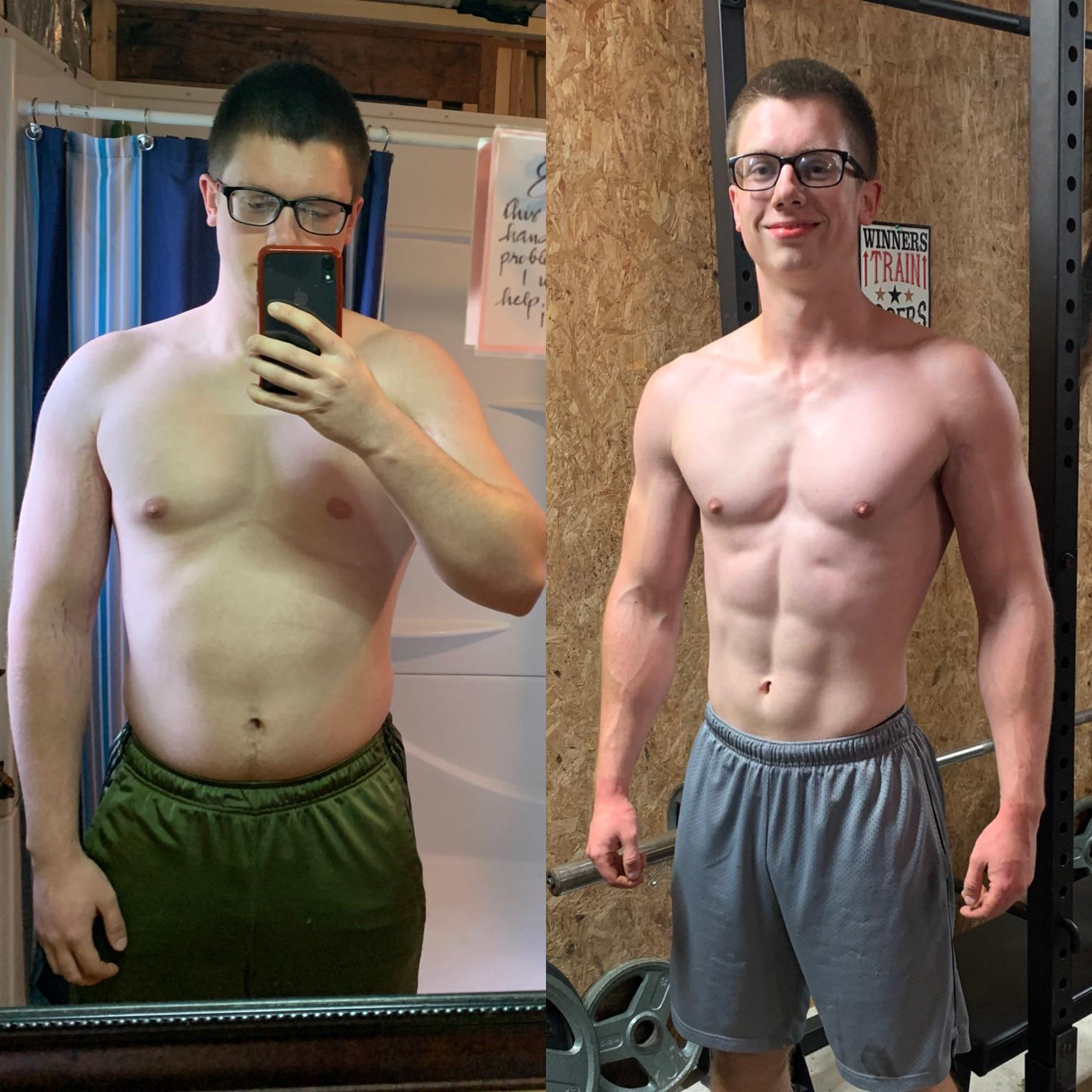 35 lbs Weight Loss 5 foot 11 Male 205 lbs to 170 lbs