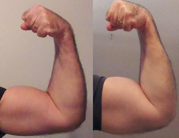 Before and After 30 lbs Weight Loss 5'10 Male 220 lbs to 190 lbs