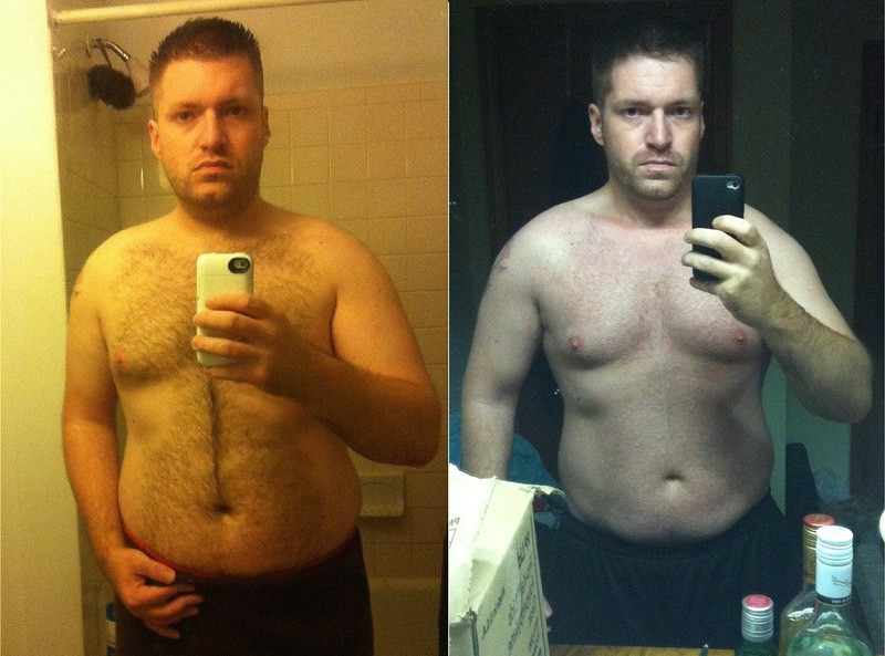 5 foot 8 Male 50 lbs Fat Loss Before and After 245 lbs to 195 lbs