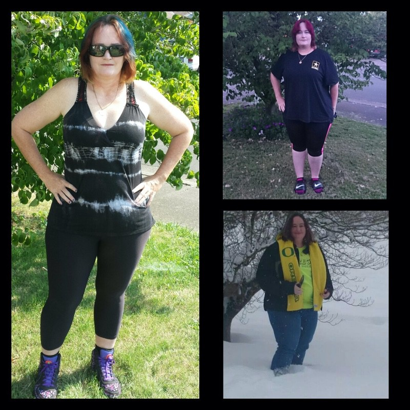 Progress Pics of 93 lbs Weight Loss 5'6 Female 292 lbs to 199 lbs