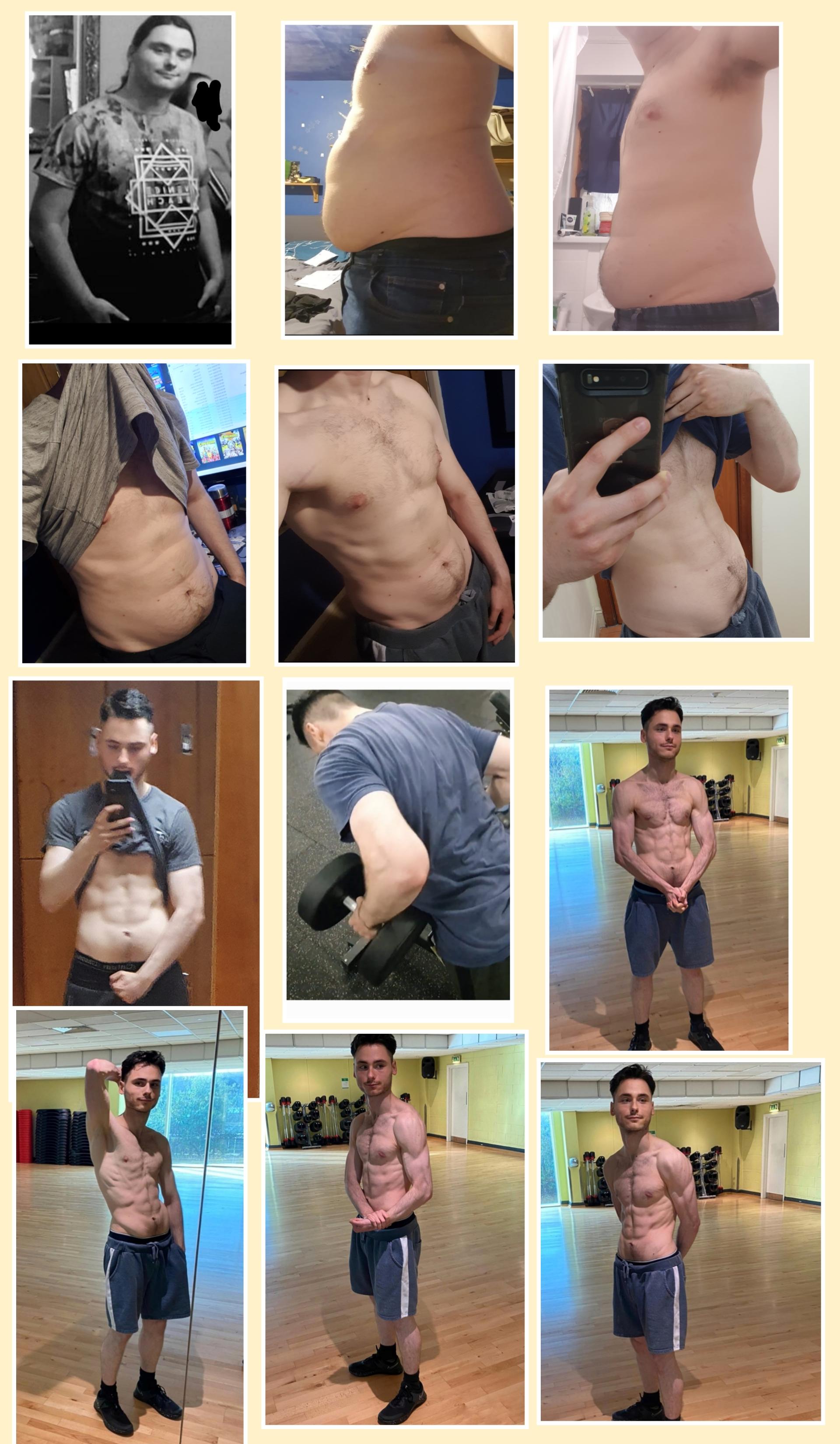 5 foot 11 Male 82 lbs Weight Loss 236 lbs to 154 lbs