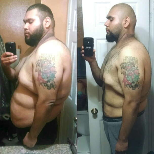 89 lbs Fat Loss Before and After 6'2 Male 345 lbs to 256 lbs