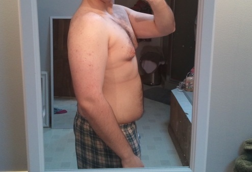 5 foot 11 Male Before and After 80 lbs Fat Loss 250 lbs to 170 lbs
