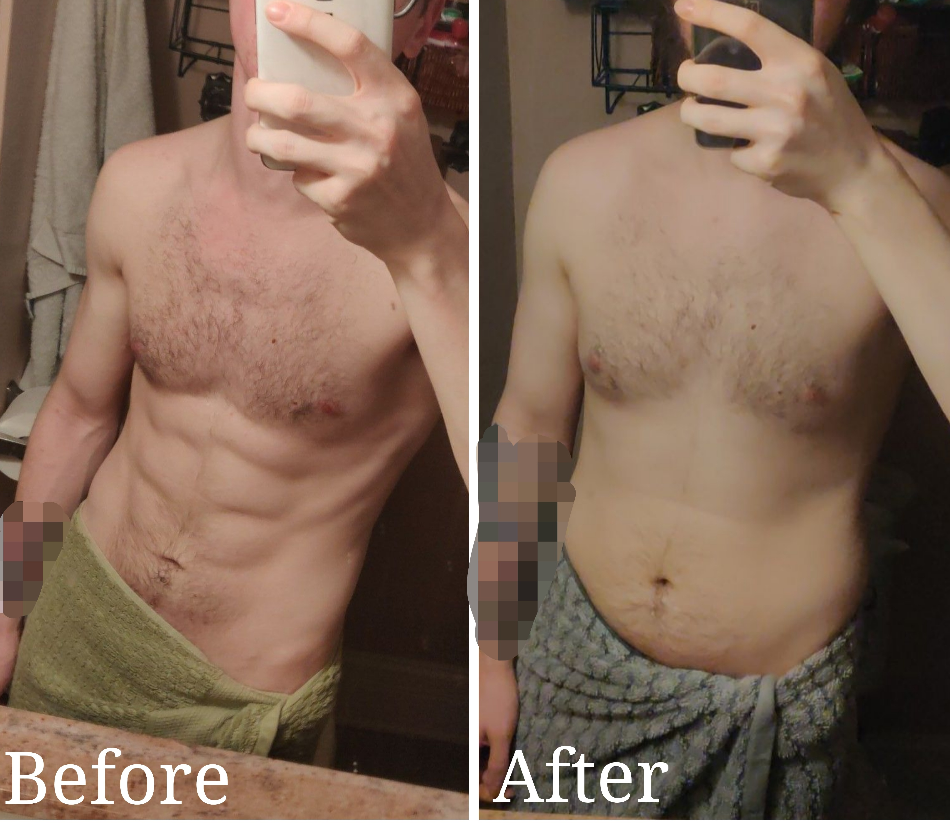 30 lbs Muscle Gain Before and After 5 foot 7 Male 145 lbs to 175 lbs