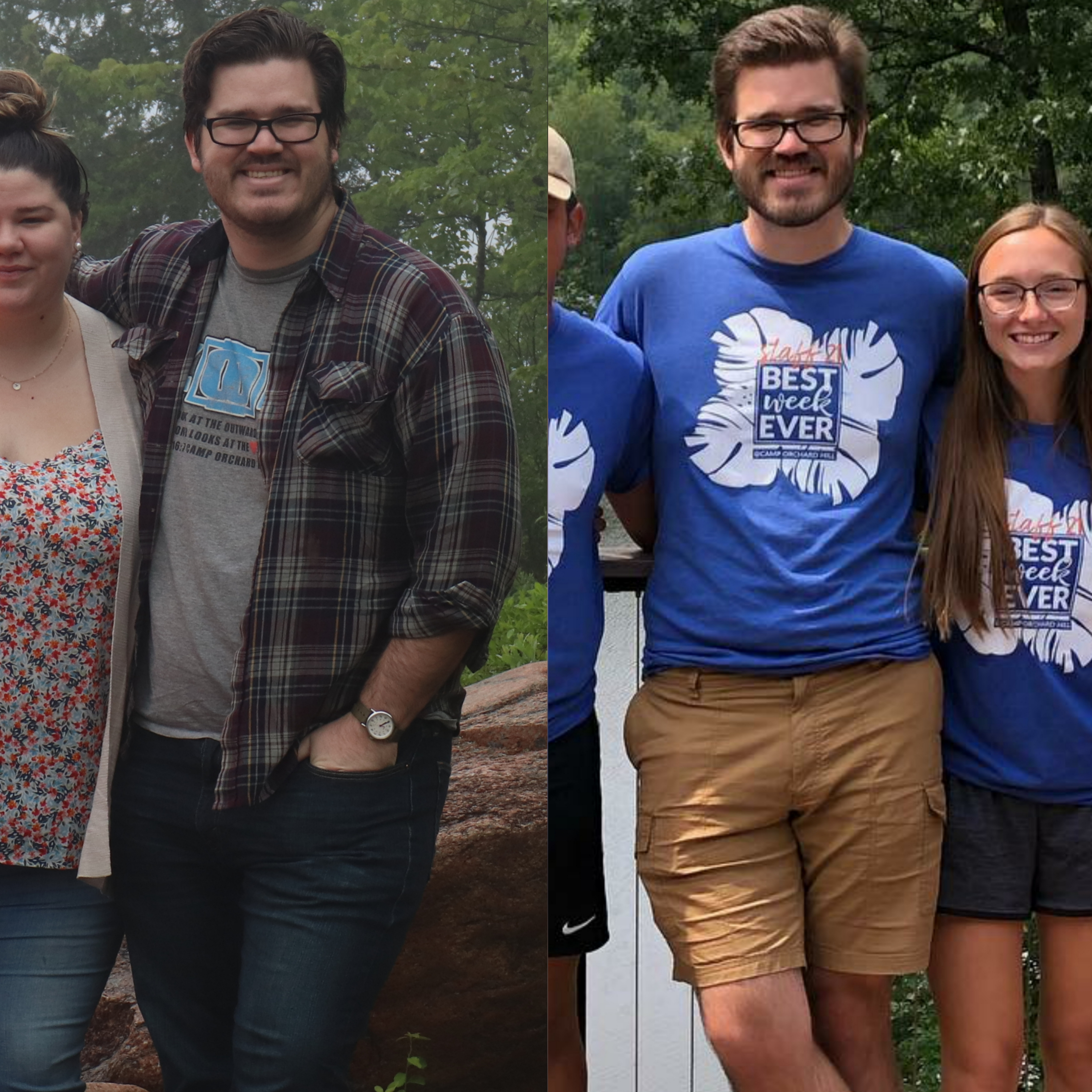 Before and After 70 lbs Weight Loss 6'4 Male 300 lbs to 230 lbs