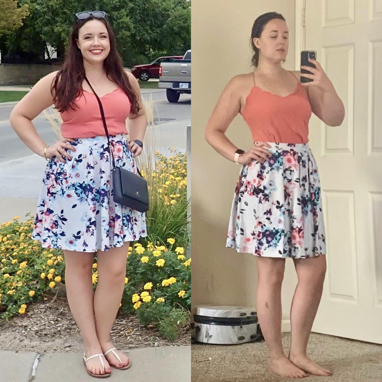 1 lbs Weight Loss Before and After 5 foot 8 Female 189 lbs to 188 lbs