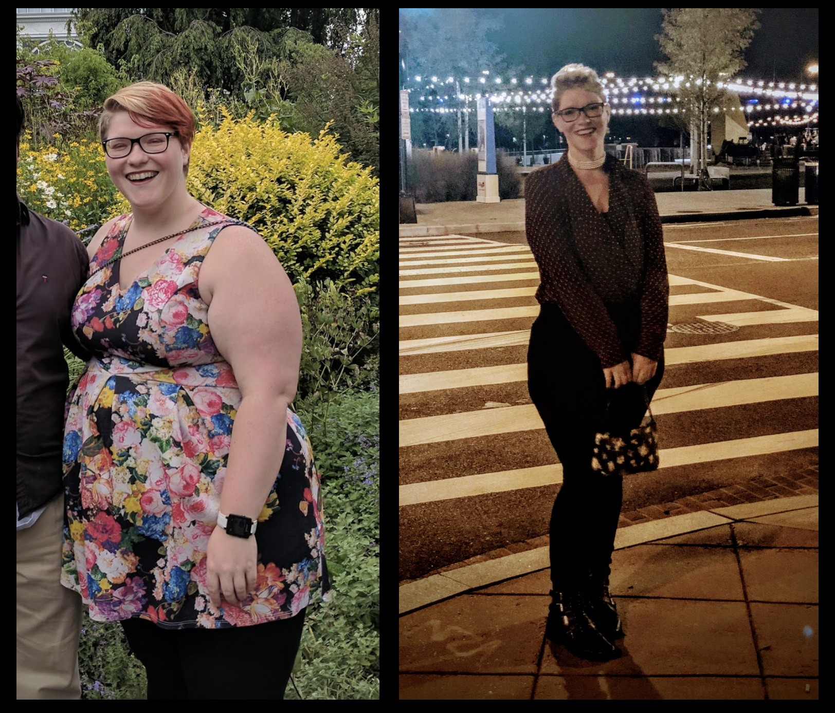 Before and After 121 lbs Fat Loss 5'10 Female 320 lbs to 199 lbs