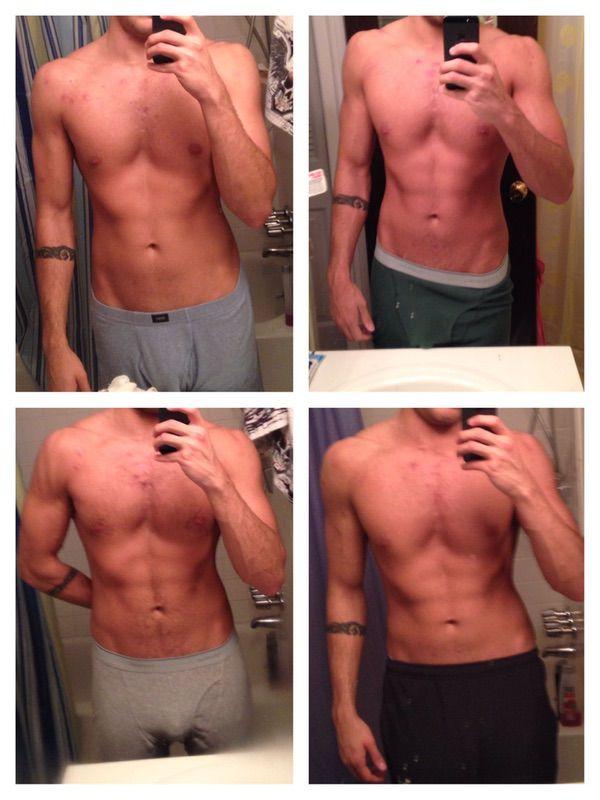 Progress Pics of 10 lbs Weight Gain 5 feet 10 Male 150 lbs to 160 lbs