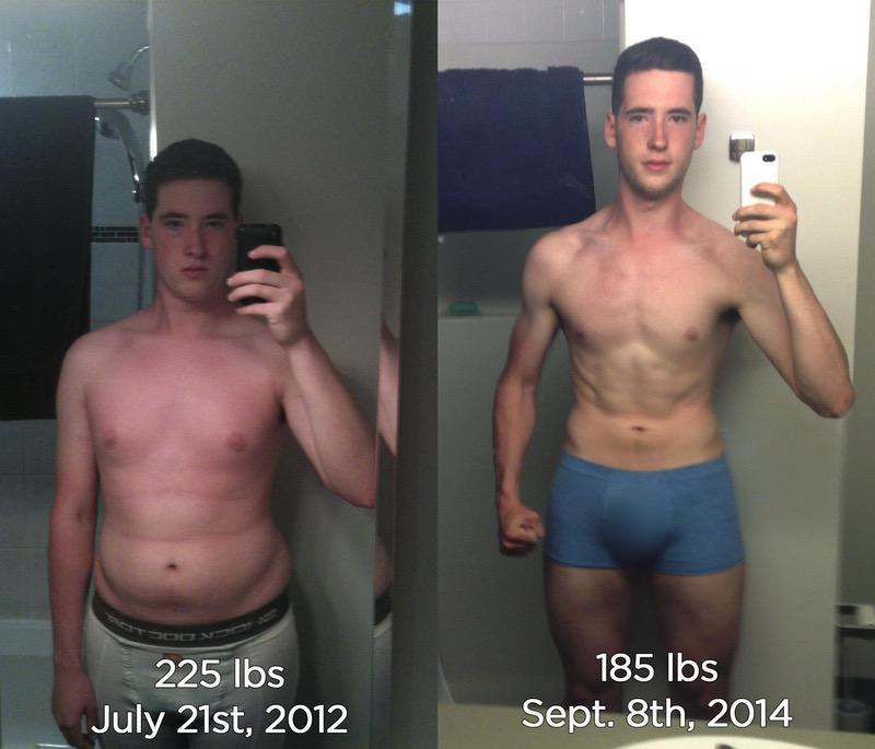 6'3 Male Before and After 52 lbs Fat Loss 225 lbs to 173 lbs