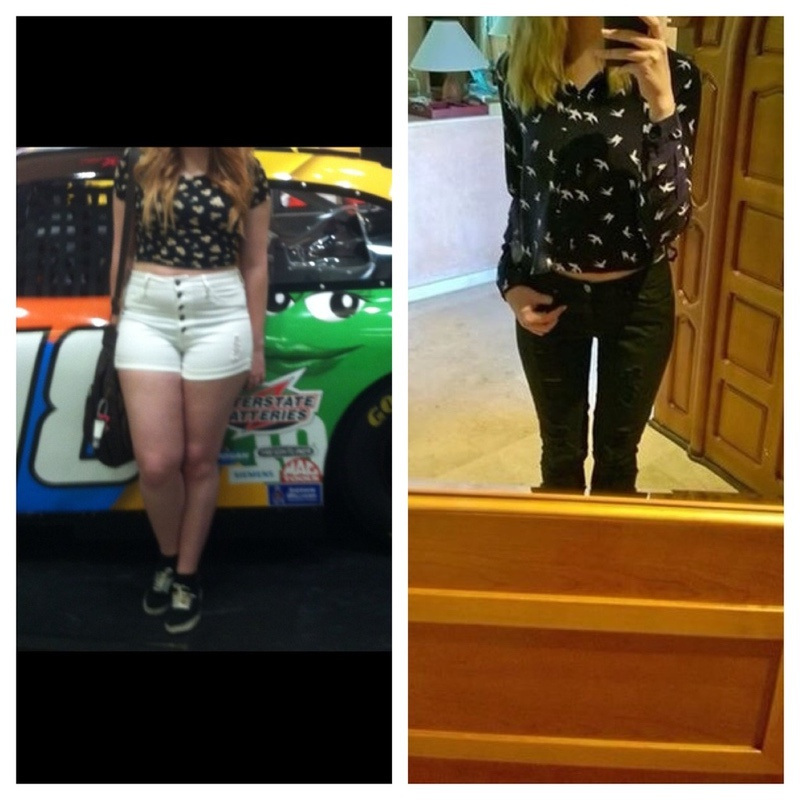 Before and After 52 lbs Weight Loss 5'6 Female 165 lbs to 113 lbs
