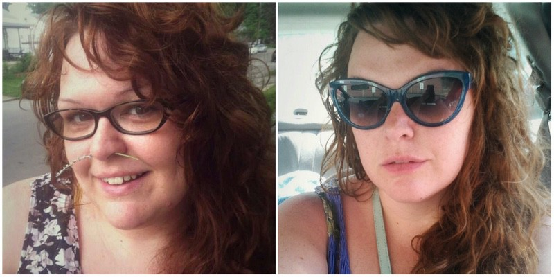5 foot 7 Female Before and After 60 lbs Weight Loss 357 lbs to 297 lbs