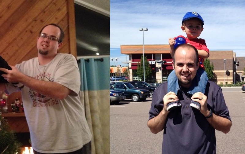 Before and After 31 lbs Weight Loss 5 feet 10 Male 210 lbs to 179 lbs