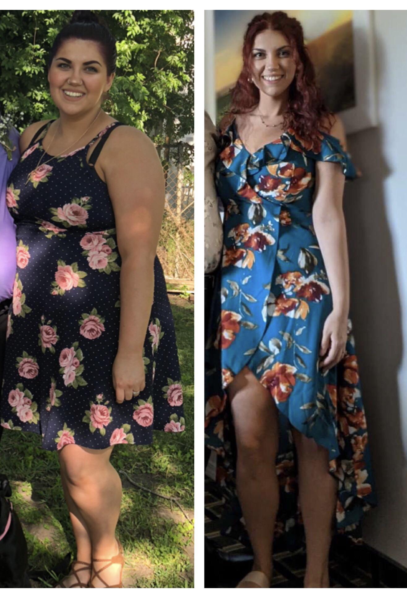 Progress Pics of 59 lbs Fat Loss 5'4 Female 200 lbs to 141 lbs