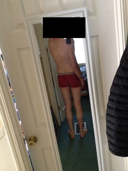 4 Photos of a 145 lbs 6 foot Male Weight Snapshot