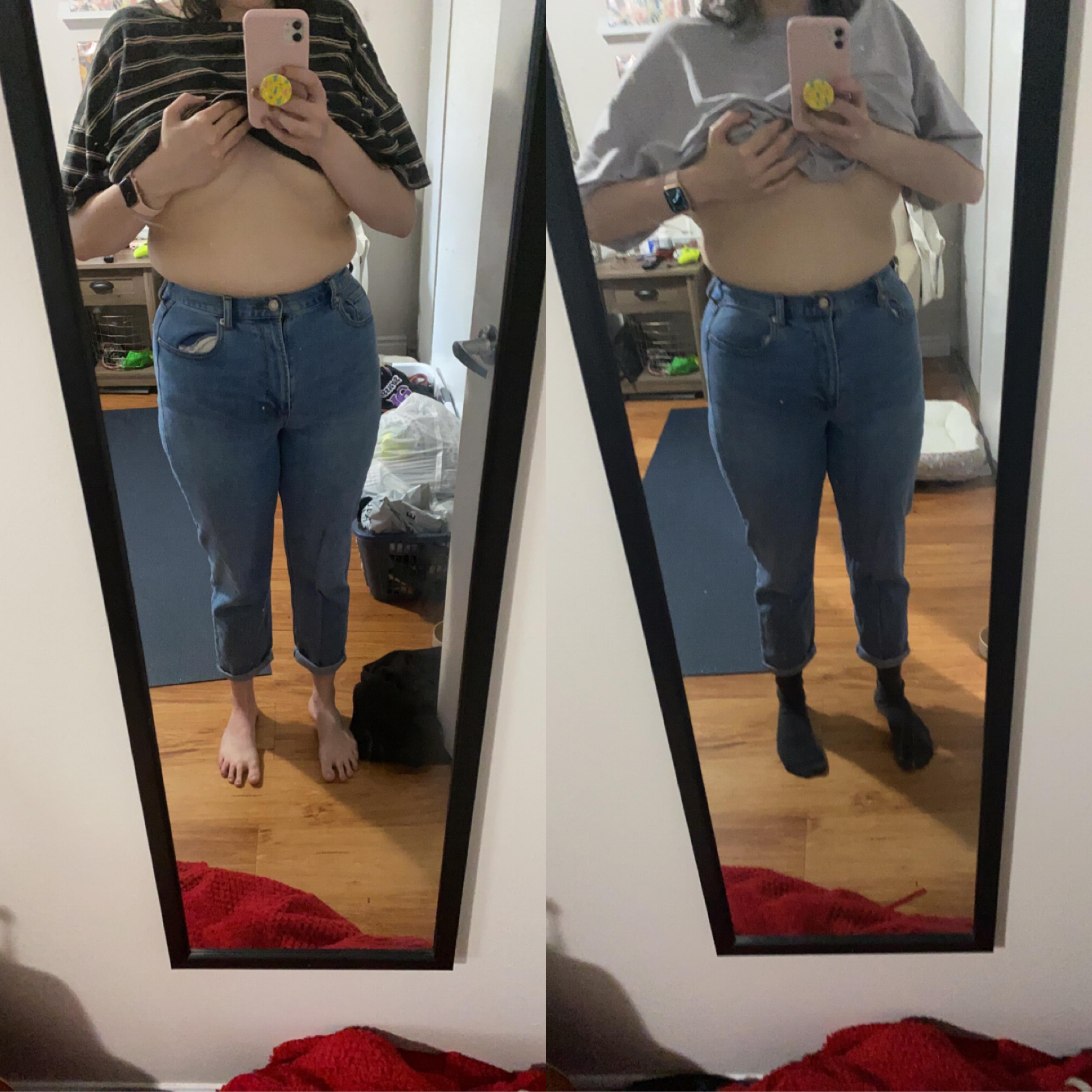 5 feet 8 Female Before and After 7 lbs Weight Loss 185 lbs to 178 lbs