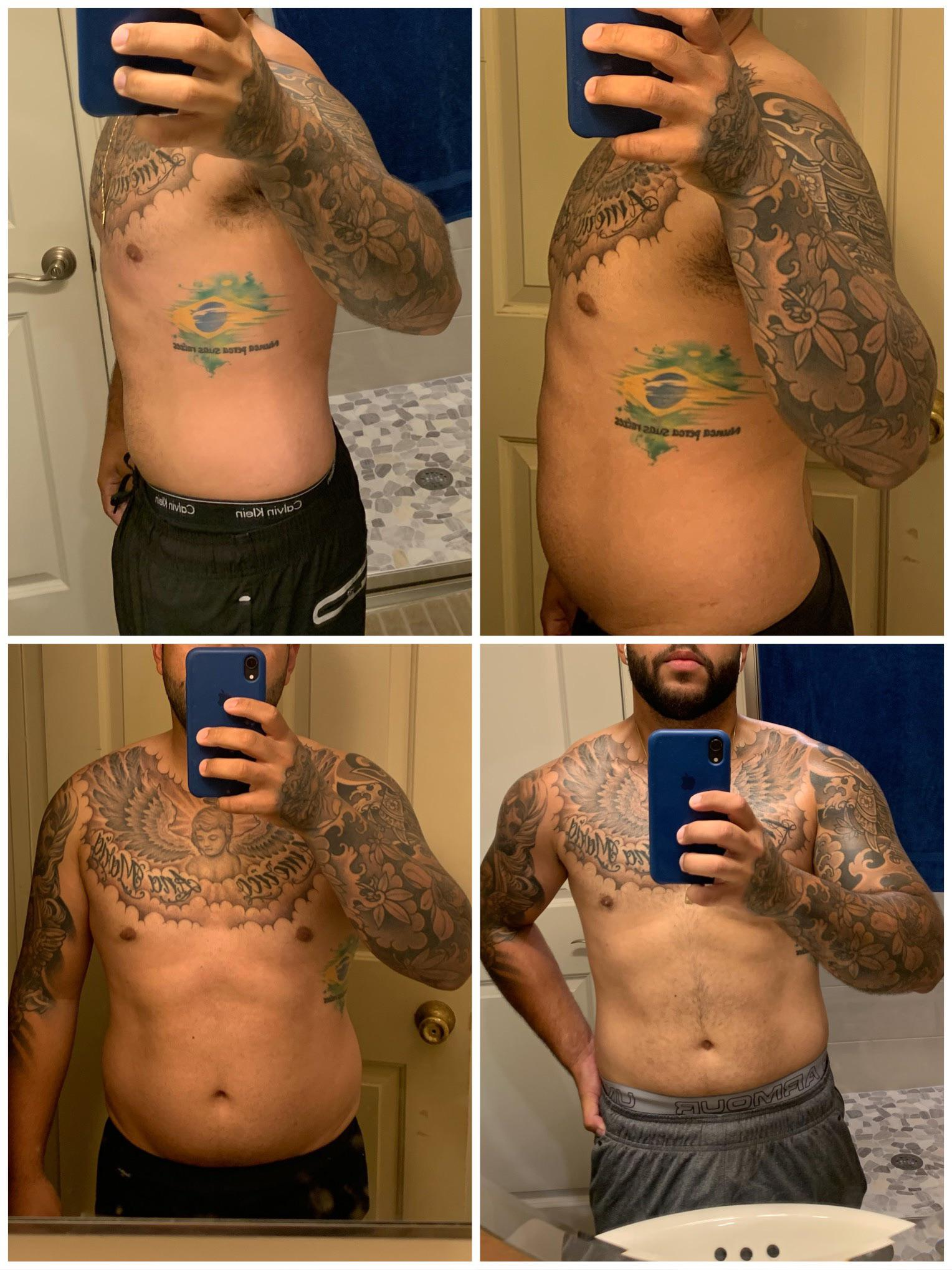 Progress Pics of 10 lbs Weight Loss 5 feet 7 Male 192 lbs to 182 lbs