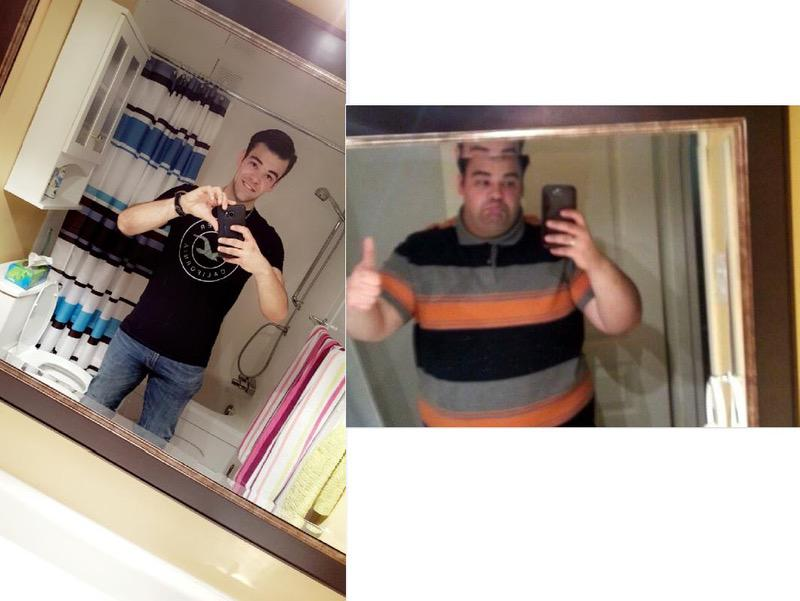 Before and After 172 lbs Weight Loss 5'10 Male 340 lbs to 168 lbs