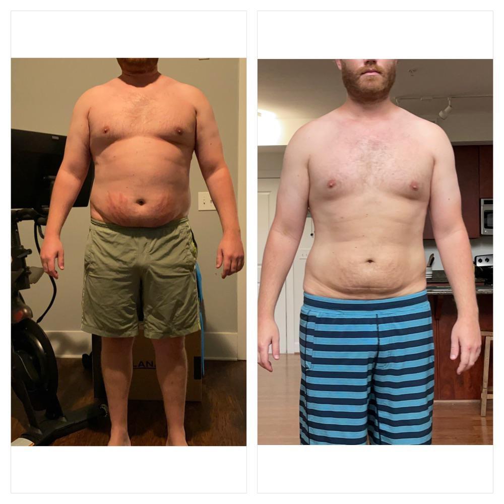 Progress Pics of 38 lbs Fat Loss 6'1 Male 253 lbs to 215 lbs