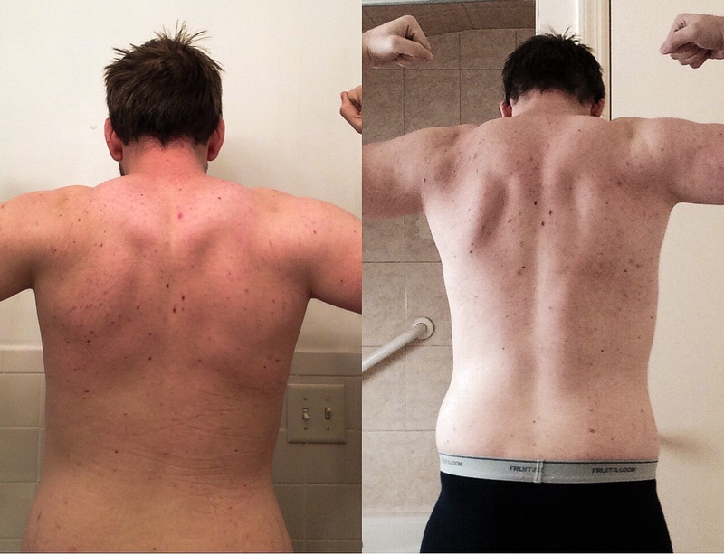 5 lbs Weight Loss Before and After 6 feet 1 Male 195 lbs to 190 lbs