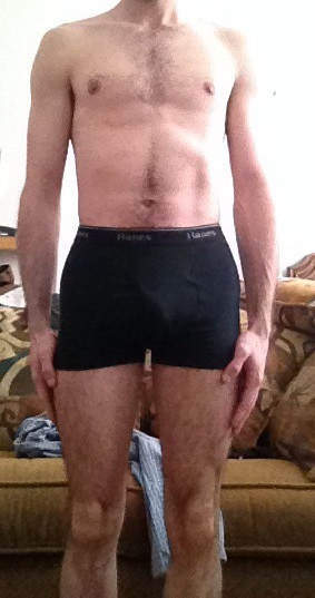 4 Pictures of a 115 lbs 5 foot 6 Male Weight Snapshot