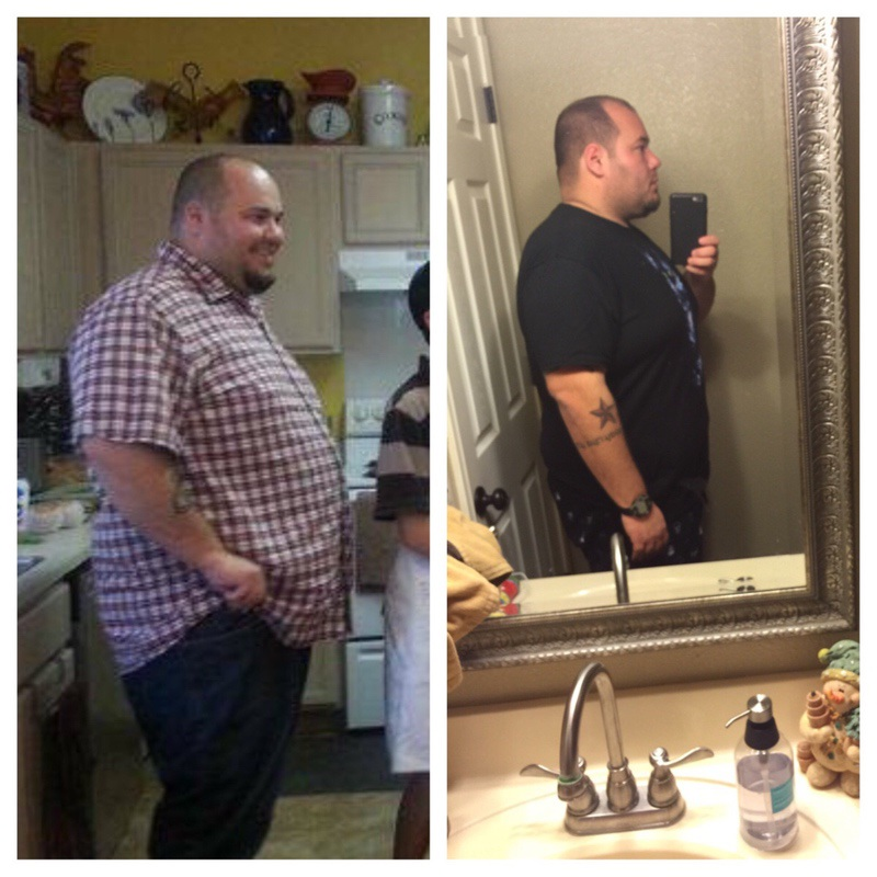 Before and After 46 lbs Weight Loss 5'10 Male 359 lbs to 313 lbs